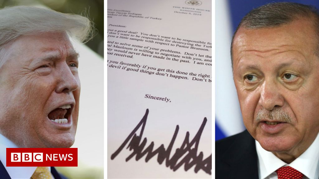 Turkish president 'threw Trump letter in bin'