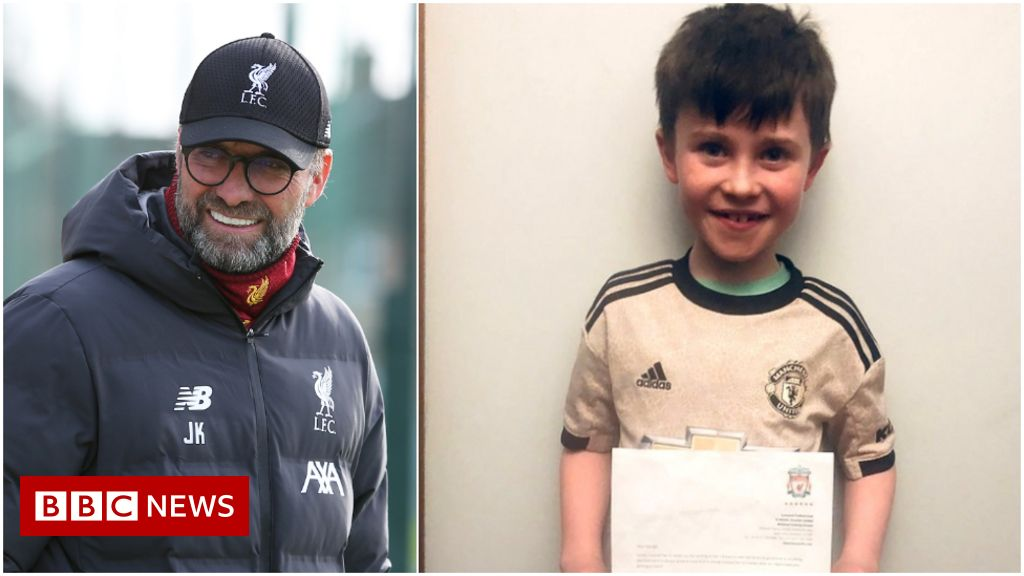 Man Utd fan invited to Old Trafford after Klopp letter - bbc