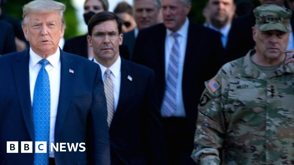 George Floyd death: Gen Mark Milley sorry to go for the accession of trump to the Church