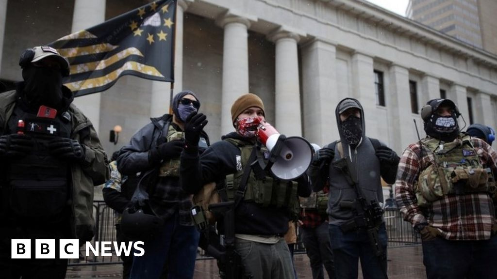 Biden inauguration: Fortified US statehouses see scattered protests