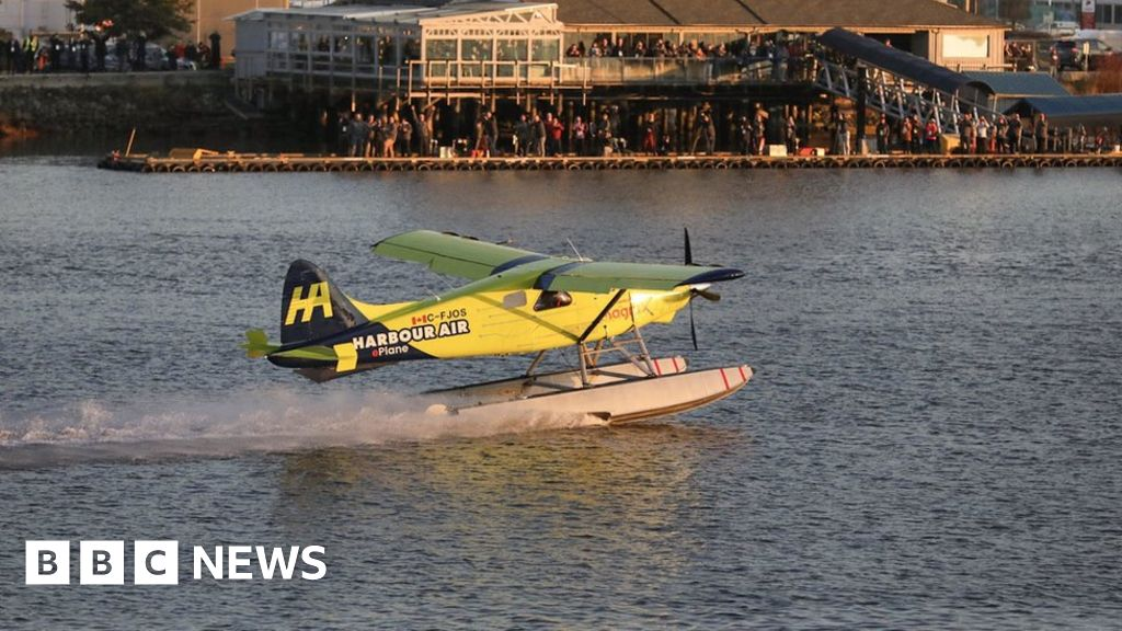 World S First Fully Electric Commercial Flight Takes Off Bbc News