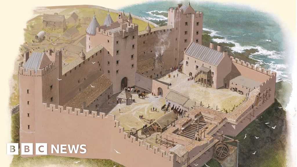505d4e2f7c New insight into Tantallon Castle in East Lothian - BBC News