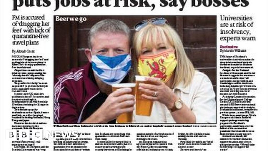 Scotland's papers: Air bridges delay jobs risk and 'Clamber Nectar' thumbnail