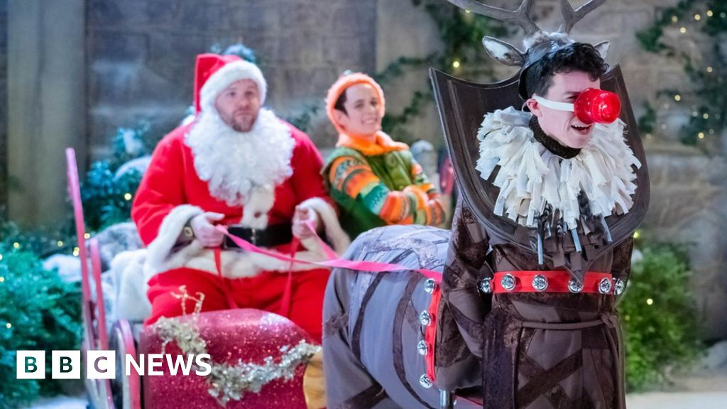The Goes Wrong Show: When TV festive frolics go awry