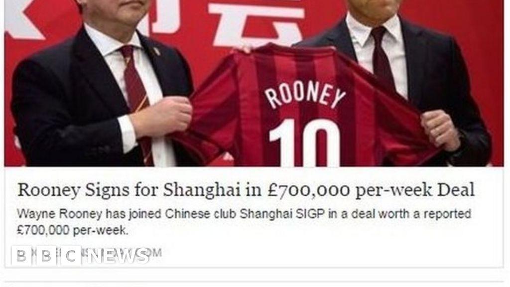 89de3e05 'Rooney to China'?: The real impact of fake football news - BBC News