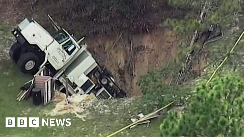 Florida Sinkhole Swallows Truck