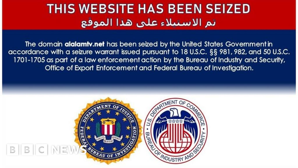 The US government is blocking news websites linked to Iran