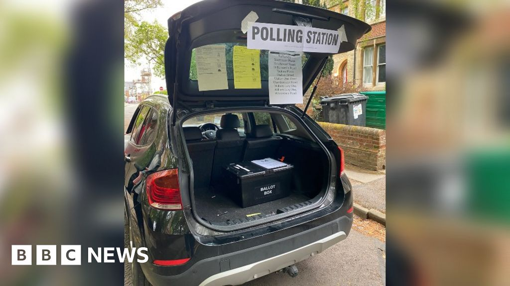 Elections 2021: Car boot used as polling station