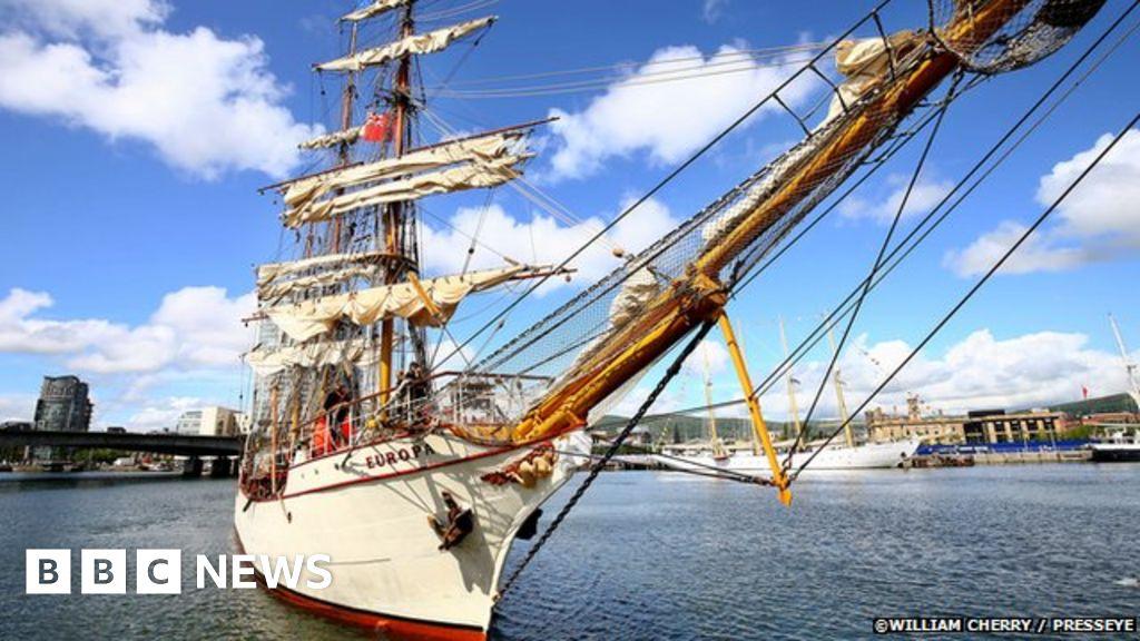 tall ships in belfast  city poised for maritime festival