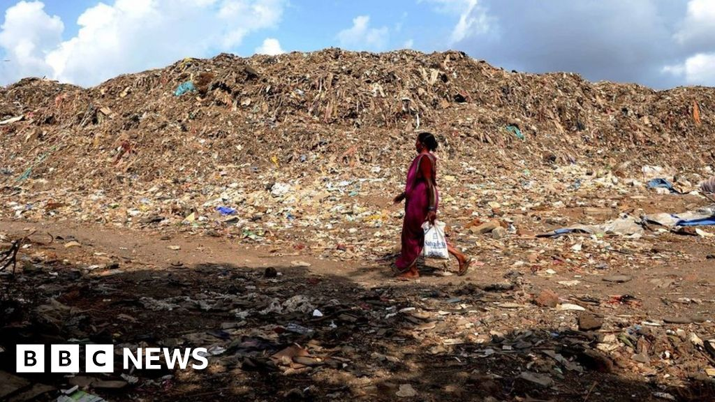 The nightmare of India s tallest rubbish mountain