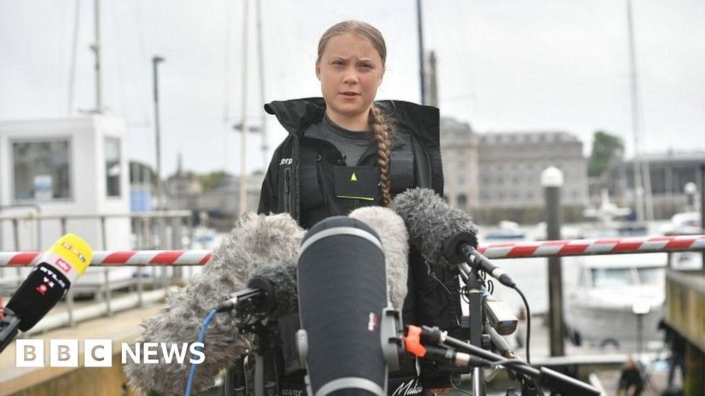 Greta arrives in Bristol for climate strike march