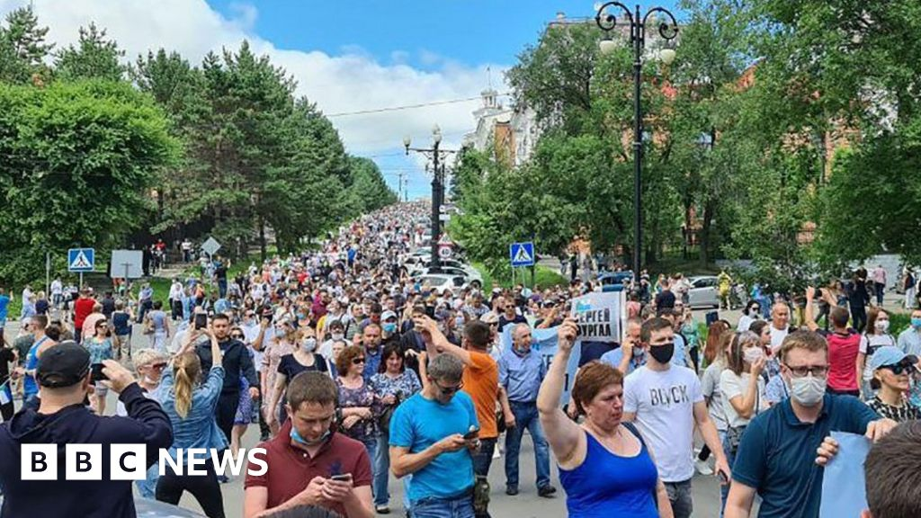 Russia far east protest over Khabarovsk governor's arrest