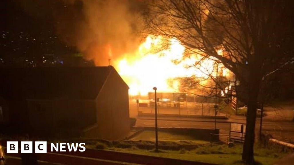 Swansea garage fire: Homes evacuated at Pentrechwyth