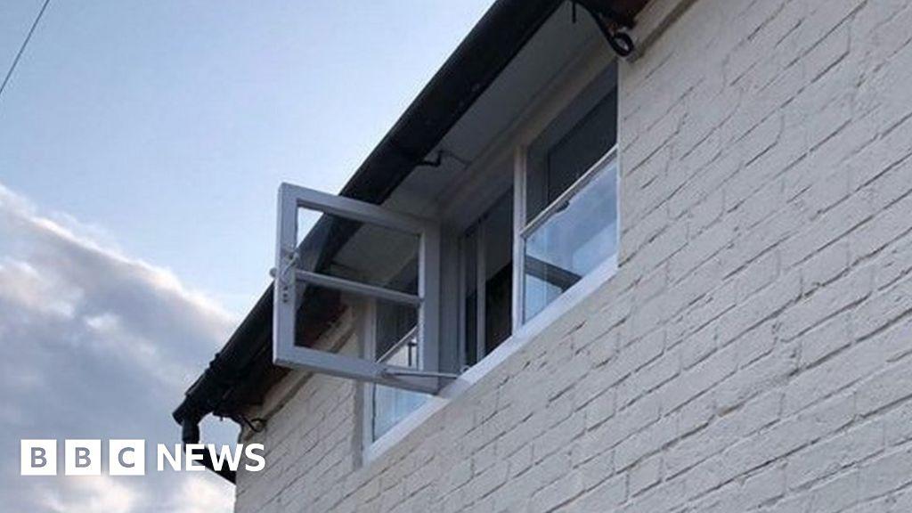 Amazon parcel 'thrown through upstairs window'