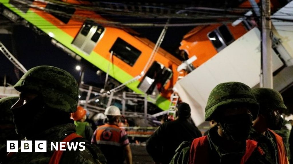 Mexico City metro overpass collapses, killing 20
