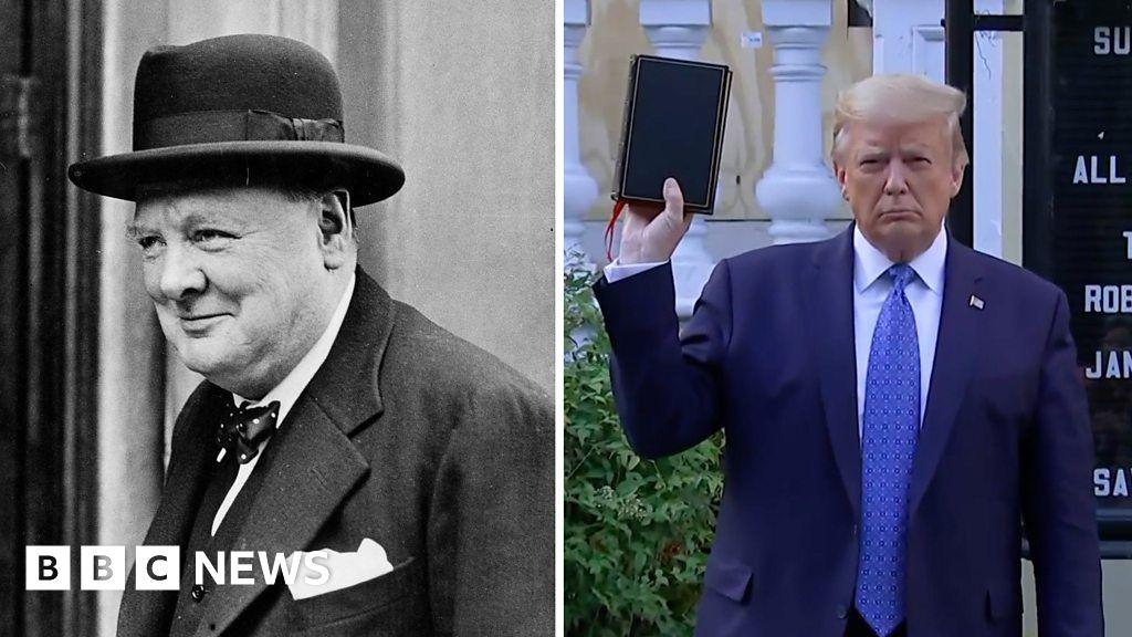 White House compares Trump Churchill in WW2