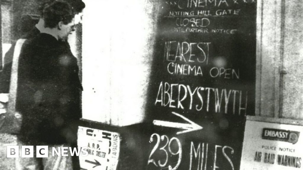 Aberystwyth: The town where cinema opened remained, such as the 2. World war began