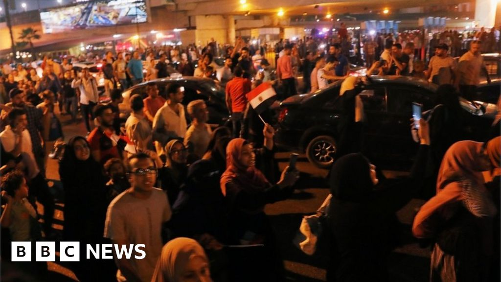 Tear gas fired as rare protests break out in Egypt