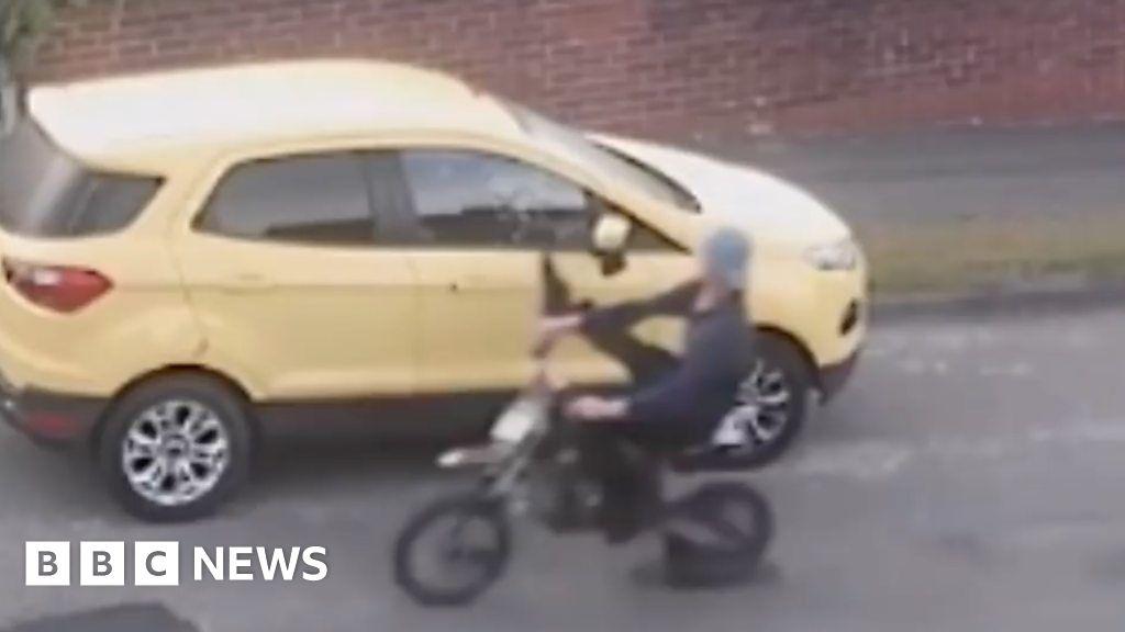 Mini Moto Rider Rammed In Hit And Run Bbc News