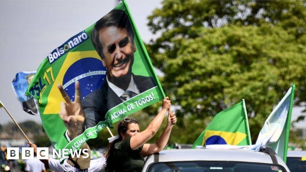 Brazil election: Bolsonaro hands out tough anti-crime message