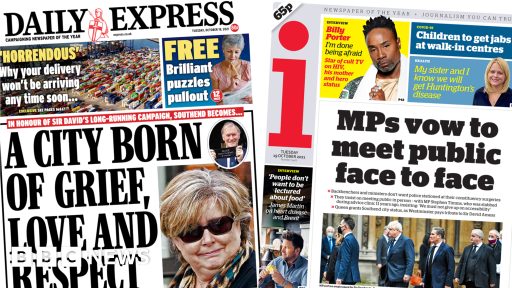 Newspaper headlines: A city 'born of grief' and call to end online hate