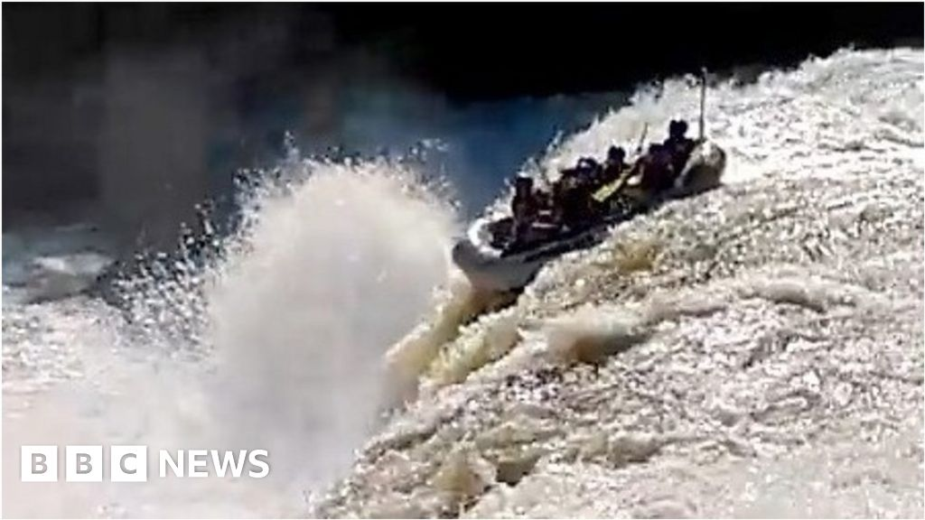 Rafters accidentally plunge over waterfall thumbnail