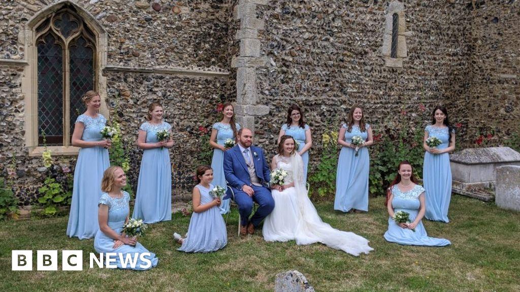 Coronavirus Couple S Joy At Post Lockdown Wedding Bbc News