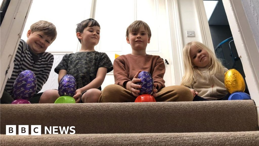 Easter egg rolling: children find ingenious way of preserving tradition