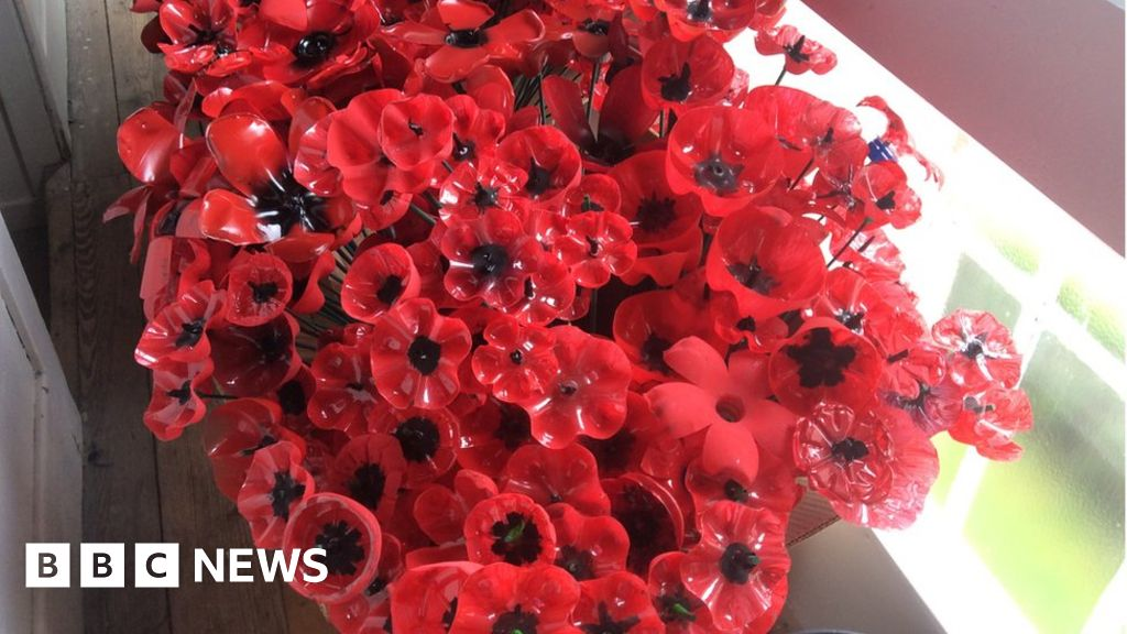 Remembrance Day: Tredegar turns plastic into poppies