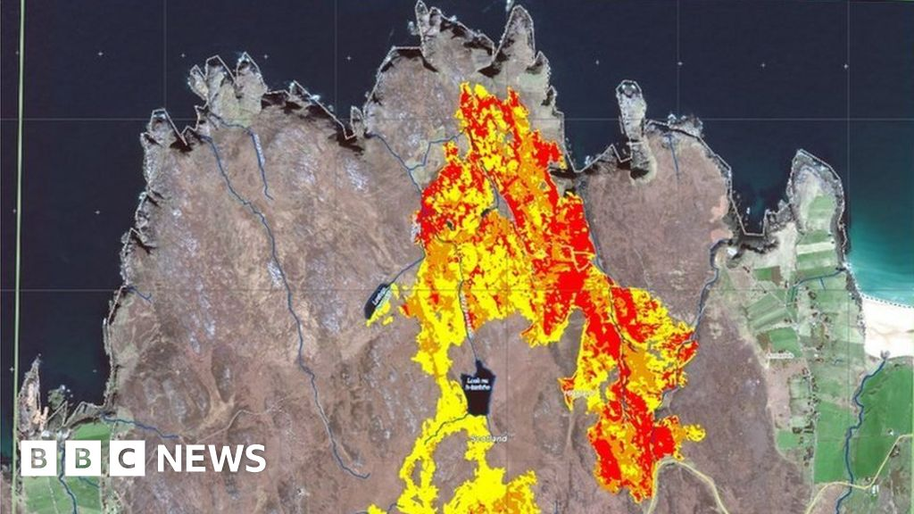 Tracking Scotland's wildfires from space