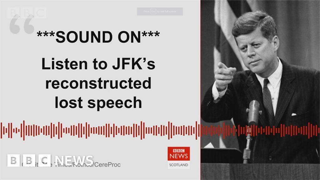 JFK's lost speech recreated