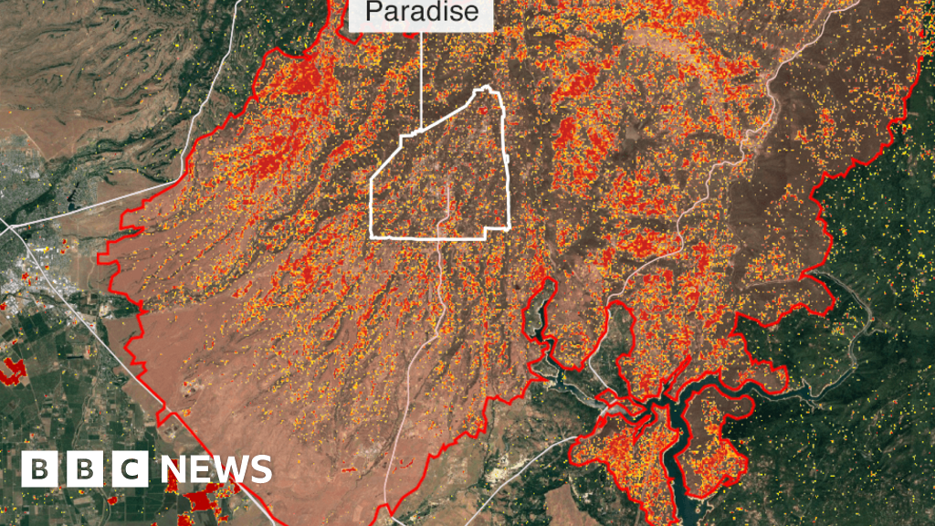 Paradise California Map.California Wildfires Thanksgiving Hope From Ashes Of Paradise Bbc