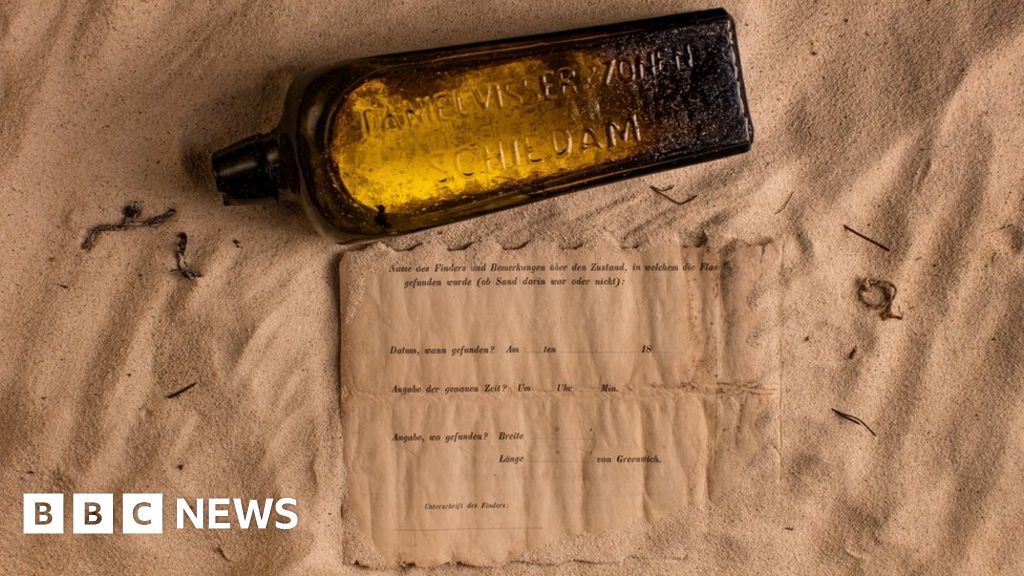 Oldest message in a bottle found on beach