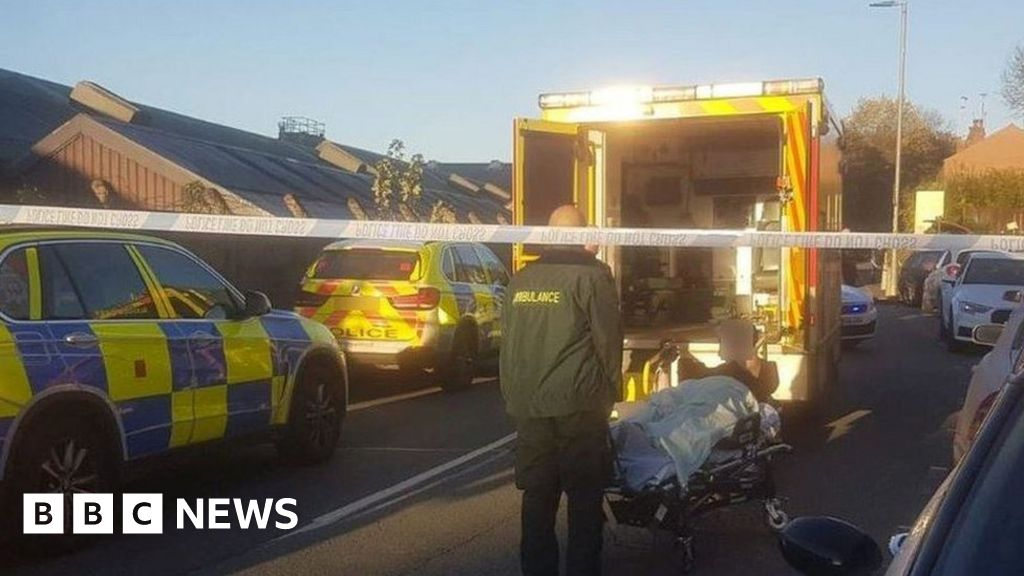 a129f10b28 Four charged after police officer hit by van during chase - BBC News