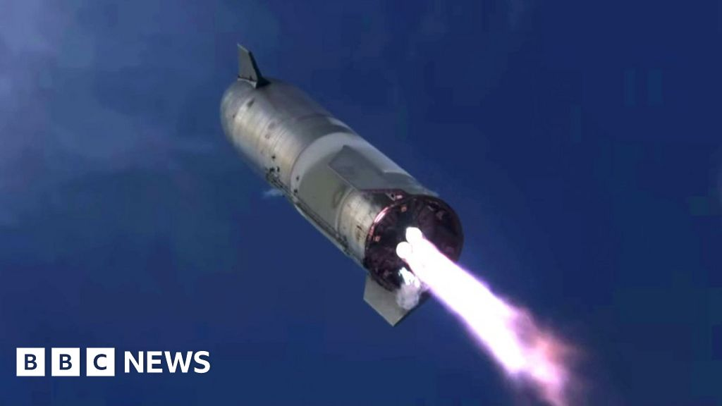 SpaceX's Starship rocket lands but then explodes