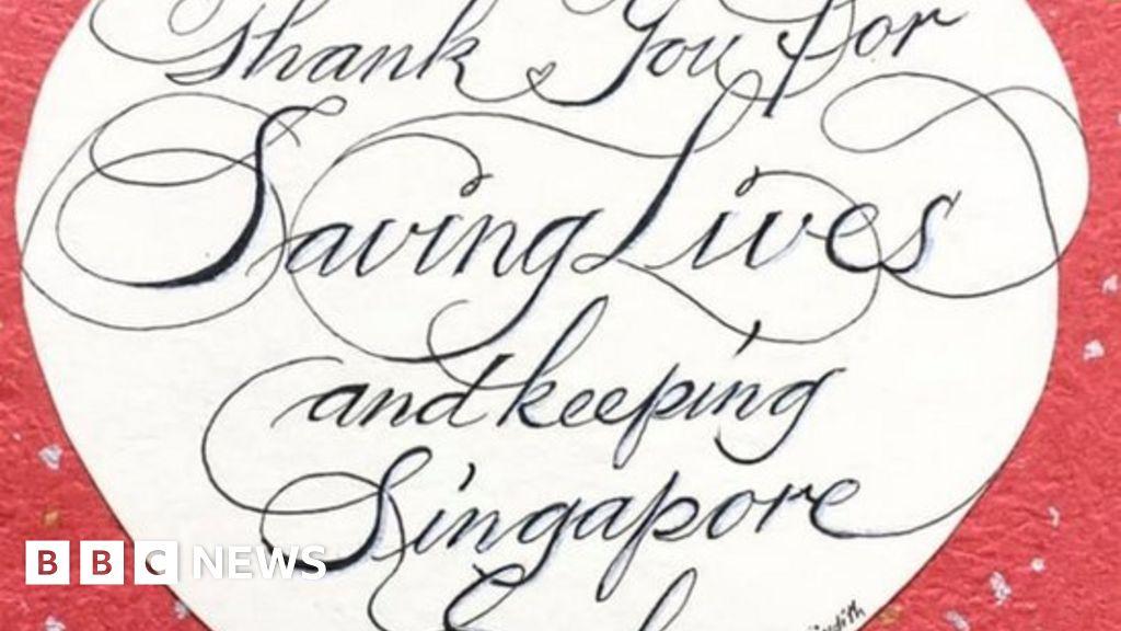 Coronavirus: The Valentine messages to medics in Singapore