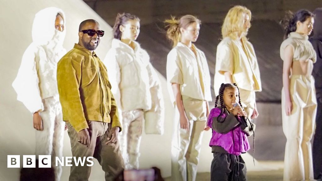 kanye west back at gap with yeezy fashion line  bbc news