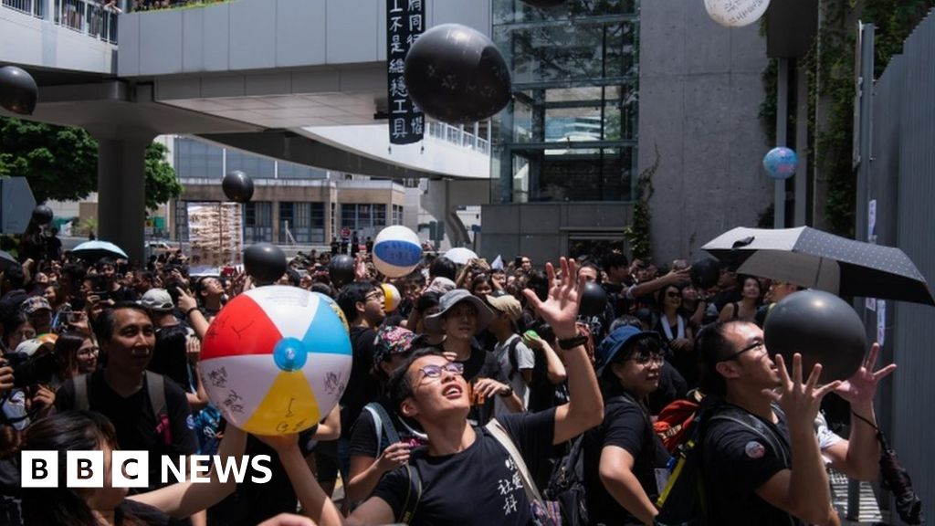 High security as Hong Kong protesters gather