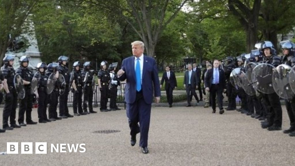 Protesters tear-gassed so Trump can walk to church