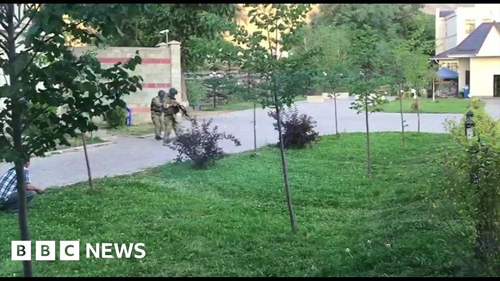 Kyrgyzstan forces raid ex-president's compound