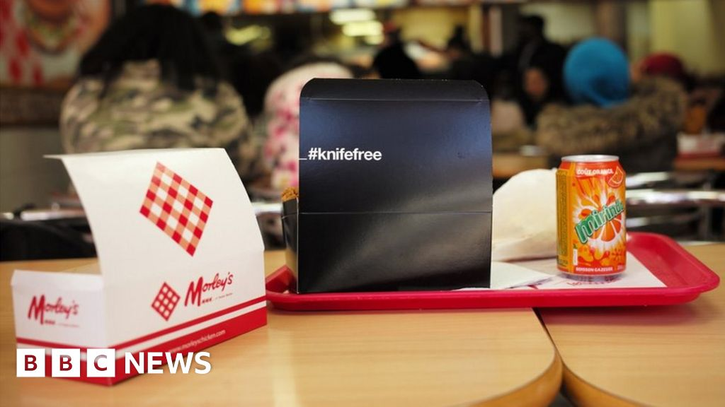 Chicken takeaway boxes warn young people of knife crime danger
