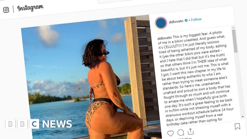 Demi Lovato posts  biggest fear  image of cellulite