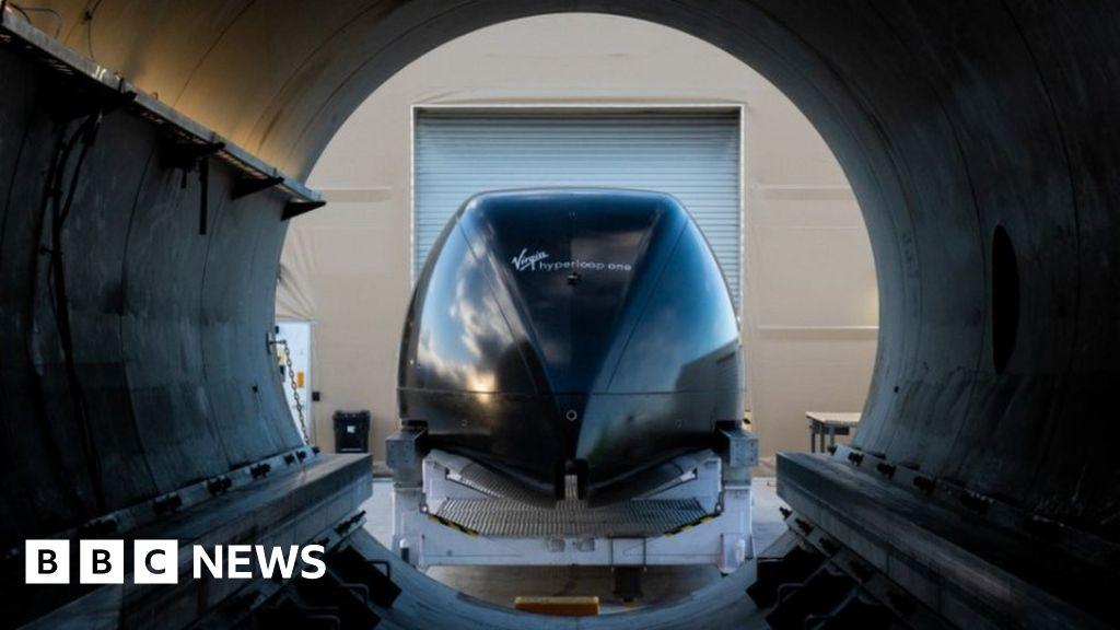 Virgin Hyperloop pod transport tests first passenger journey