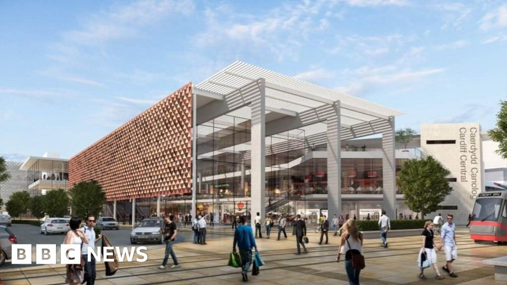 These are new artist impressions of the south side of Cardiff Central Station