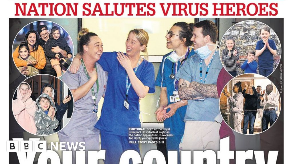 The Papers: Salute for virus 'heroes' and 'Checkpoint Britain'