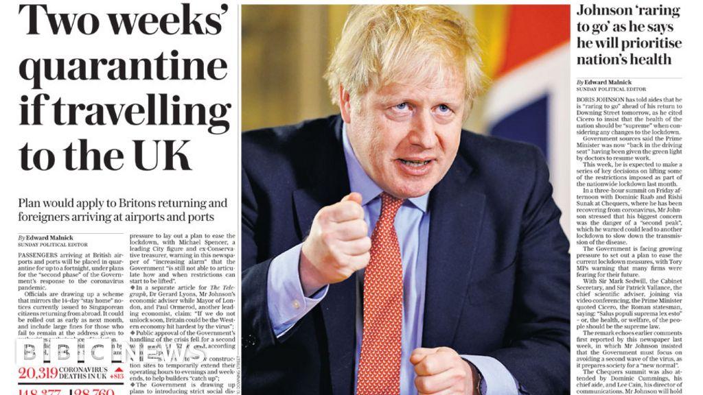 "Headlines: Boris Johnson back, in the midst of  lockdown dilemma"""
