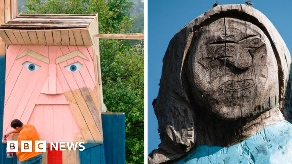 Trump statue erected in Melania s home country Slovenia