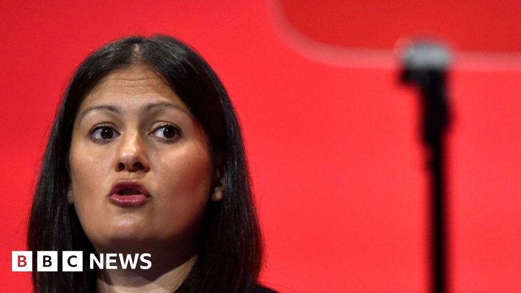 Replace the line: Lisa Nandy joins race Jeremy Corbyn work