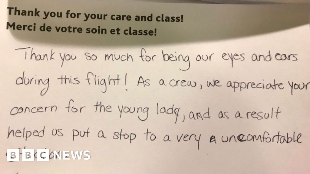 Sexual harassment on 'my first flight' - BBC News