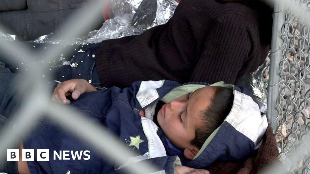 US-Mexico border: Migrants held as Trump threatens closure - BBC News thumbnail